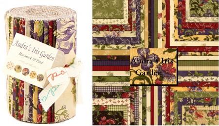 Audra's Iris Garden Moda Dessert Roll-0