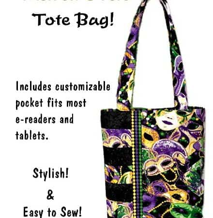 Mardi Gras Tote Bag - Purse / Handbag Kit-0