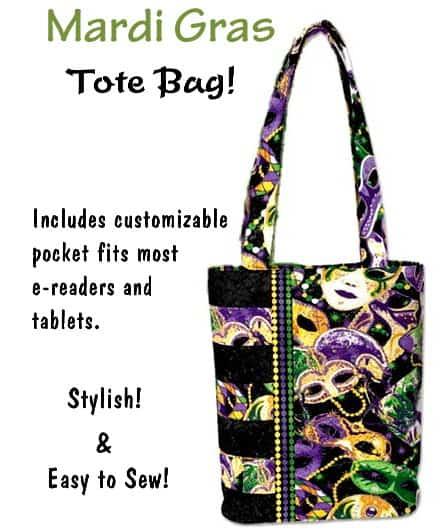 Mardi Gras Tote Bag - Purse / Handbag Kit-0