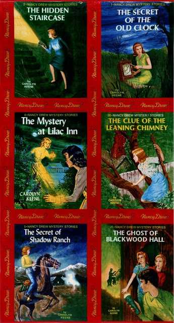 Get a Clue Nancy Drew Fabric Panel - Red-0
