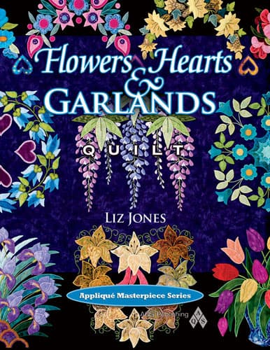 Flowers, Hearts and Garlands Quilt-0