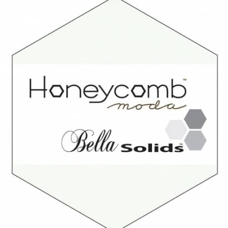 WHITE Moda Honeycomb + Free Pattern-0