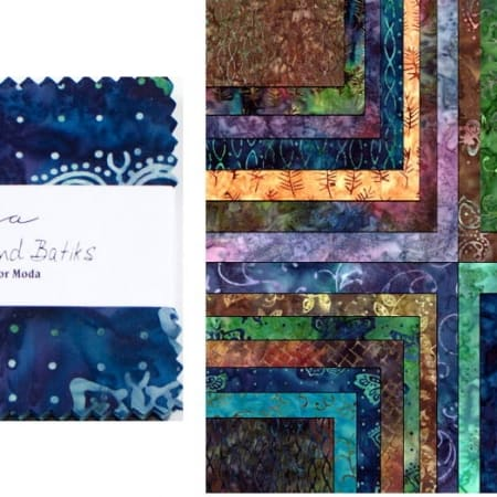 "Enchanted Pond Batiks 5"" Charm Pack-0"