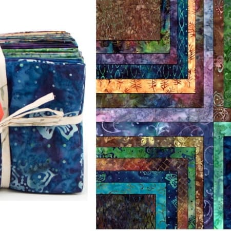 Enchanted Pond Batiks Fat Quarter Bundle-0