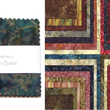 "Paint Box Batiks 5"" Charm Pack-0"