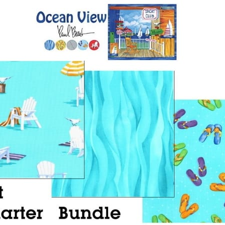 Ocean View Fat Quarter Bundle or Yardage-0
