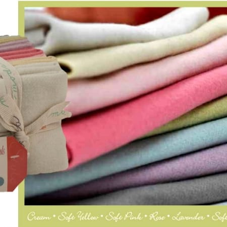 Bunny Hill Pastel Wools Fat Quarter Bundle -0