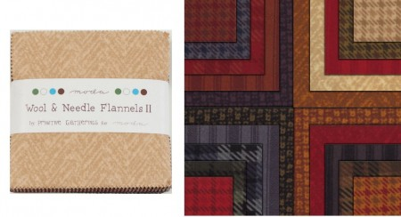 "Wool Needle Flannels II 5"" Charm Pack-0"
