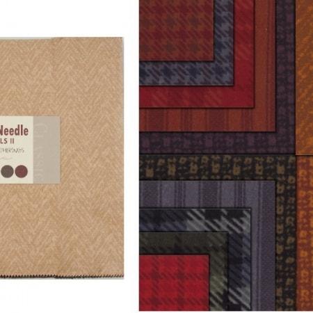 Wool Needle Flannels II Moda Layer Cakes-0