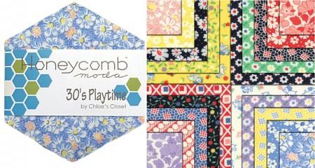 30s Playtime Moda Honeycomb + Free-0