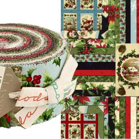 Seasons Greetings Moda Jelly Roll-0