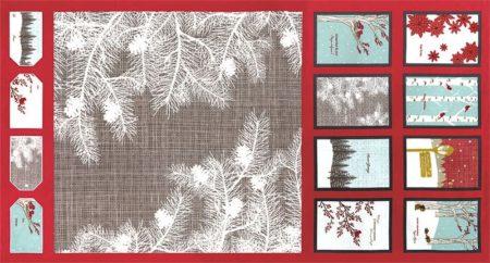 Winter's Lane Fabric Panel + FREE PATTERN-0