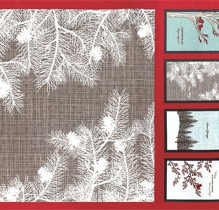 Winter's Lane Fabric Panel + FREE PATTERN-0