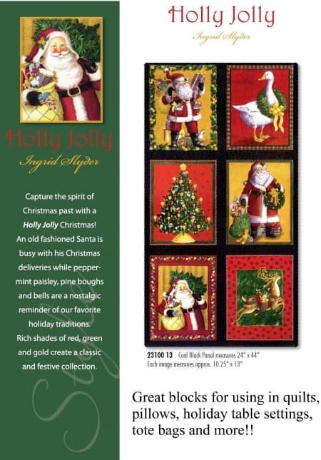 Holly Jolly Fabric Panel-0