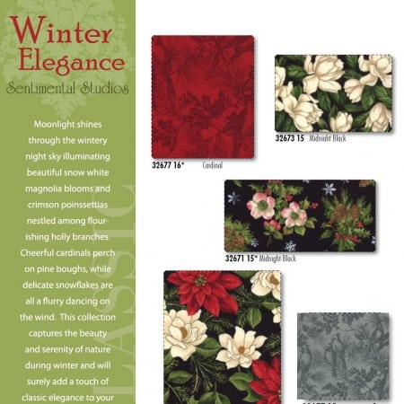 Winter Elegance Fat Quarter Bundle-0