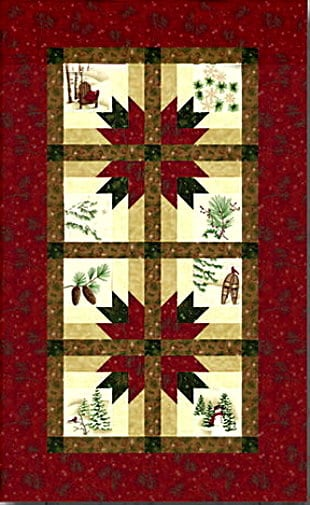 Holiday In The Pines Table Runner Kit-0