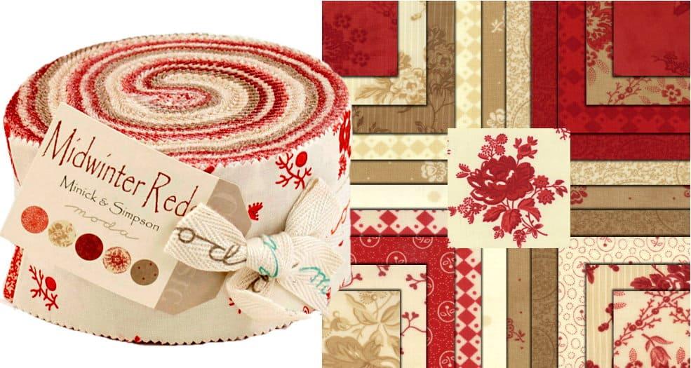 Midwinter Reds Moda Jelly Roll