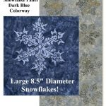 Let it Snow Fabric Panel - Navy-0