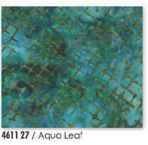 Enchanted Pond Batik - 4611 27 - Aqua Leaf-0
