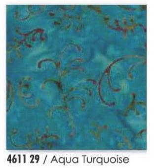 Enchanted Pond Batik - Aqua Turquoise-0