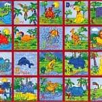 Animal Alphabet Fabric Panel -0