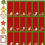 Gingerbread Treats Advent Fabric Panel -0