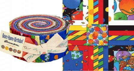 Beary Happy Birthday Moda Jelly Roll-0
