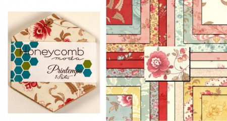 Printemps Honeycomb + Free Pattern-0