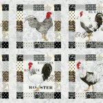 El Gallo Fabric Panel - Ivory-0