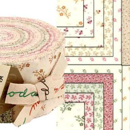 Floral Gatherings Shirtings Moda Jelly Roll-0