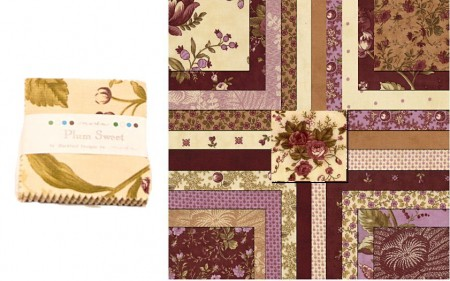 "Plum Sweet 2.5"" Charm Pack-0"