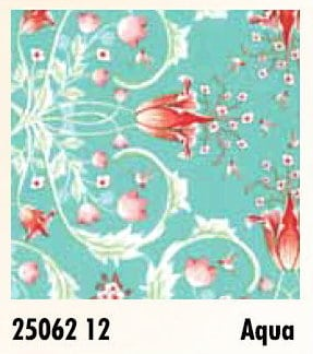 Birds & Berries - 25062 12 - Aqua-0