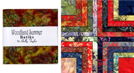 "Woodland Summer Batiks 5"" Charm Pack-0"