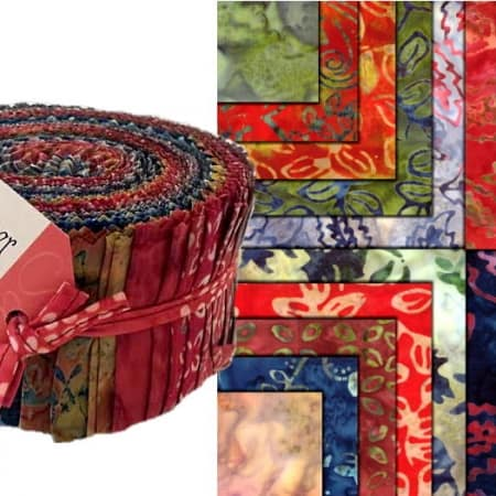 Woodland Summer Batiks Moda Jelly Roll-0