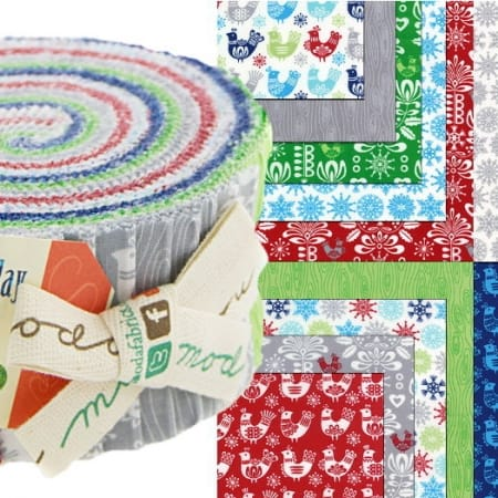 Folk Art Holiday Moda Jelly Roll-0