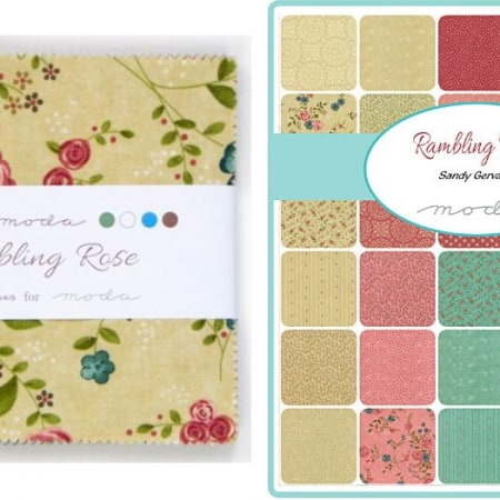 "Rambling Rose 5"" Charm Pack-0"