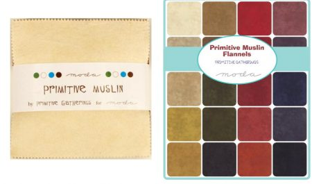 "Primitive Muslin Flannel 5"" Charm Pack-0"