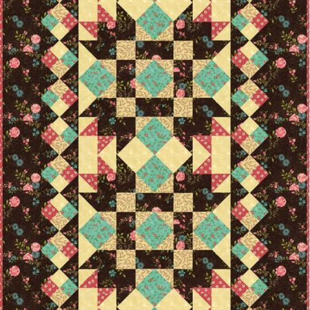 Rambling Rose Tablerunner Quilt Kit-0