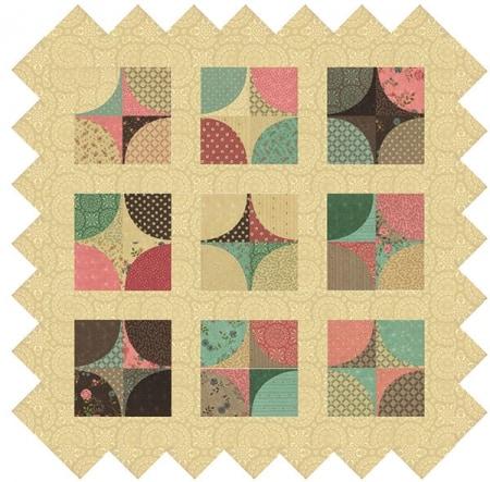 Rambling Rose Table Topper Quilt Kit-0