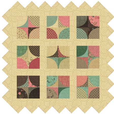 Rambling Rose Table Topper Quilt Kit-0