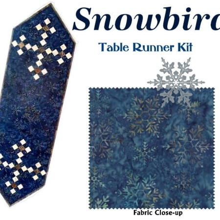 Snowbird Table Runner Quilt Kit-0