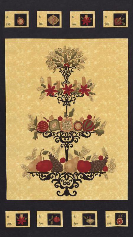 Pine Fresh Fabric Panel - Ebony-0