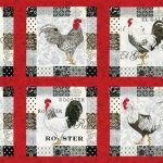 El Gallo Fabric Panel - Red-0