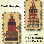 Pine Fresh Advent or Wallhanging Quilt Kit-0