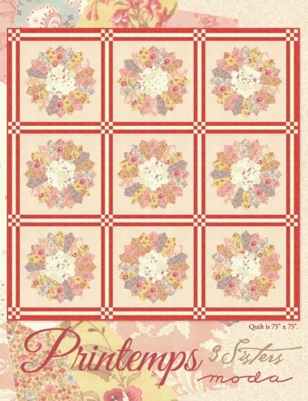 Printemps Quilt Pattern-0