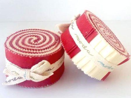 Red & White Moda Mini Honey Bun-0