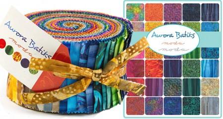 Aurora Batiks Moda Jelly Roll-0