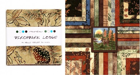 "Birch Bark Lodge 2.5"" Charm Pack -0"