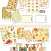 "Butterscotch and Roses 2.5"" Charm Pack -17418"
