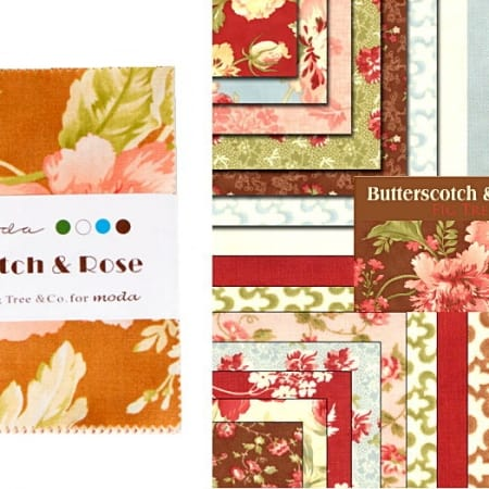 """Butterscotch and Roses 2.5"""" Charm Pack -0"""